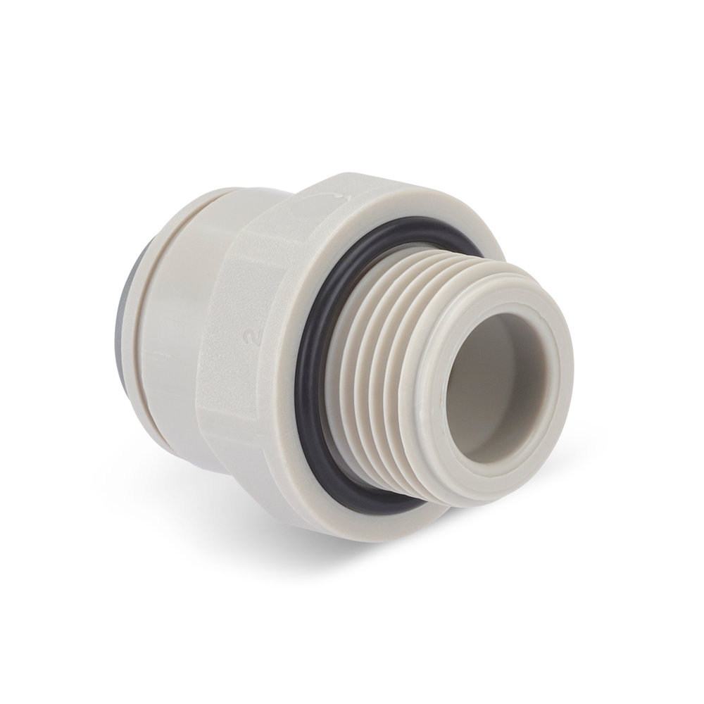 DP488 Make Straight Adapter 3_8 BSP to 3_8 Push Fit